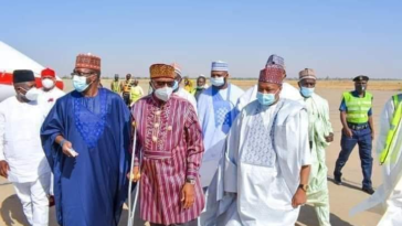 Amaechi Walks With Crutches While Commissioning Orphanage Home And Arabic School In Katsina 12