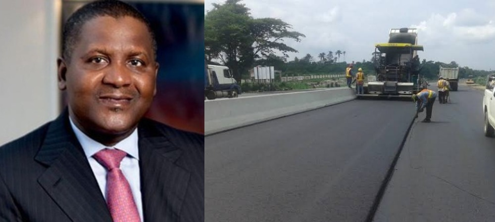 Dangote Completes Nigeria's Longest Concrete Road Linking North And South 1