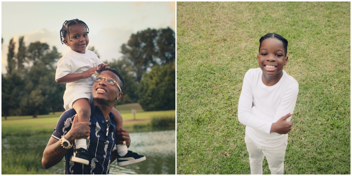 Wizkid's First Son Boluwatife And Lastborn Zion Finally Meets For The First Time [Video] 1