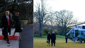 Trump And Melania Finally Leaves White House Ahead Of Biden's Inauguration [Video] 5