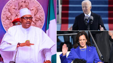 Buhari Says He's Looking Forward To Work With Joe Biden And Kamala Harris 13