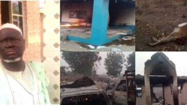 Yoruba Youths Expels Seriki Fulani From Oyo Community, Burns His Palace, 11 Cars 3