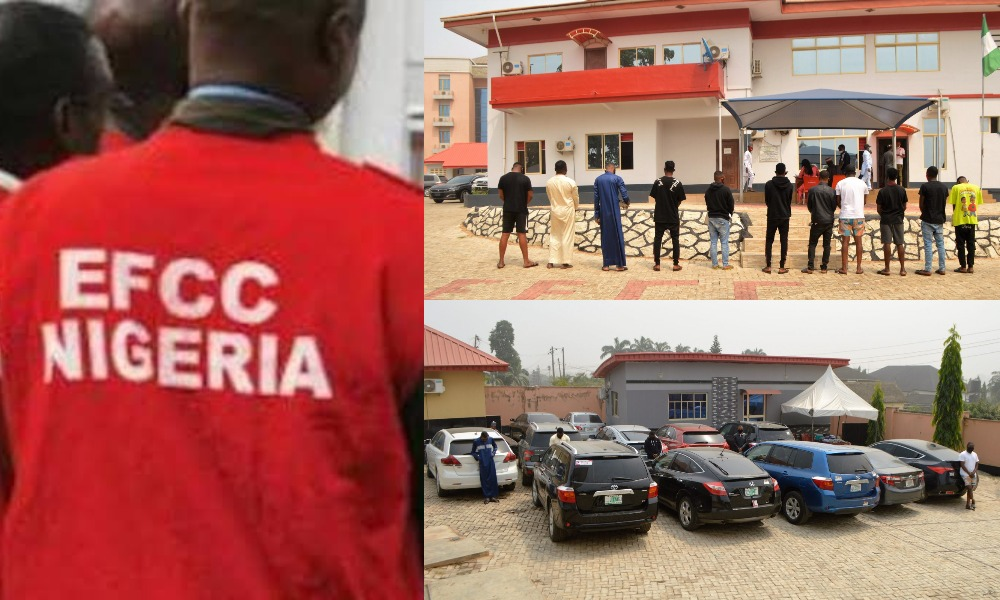 EFCC Arrests 11 Suspected 'Yahoo Boys' With 12 Exotic Cars In Osogbo [Photos] 1