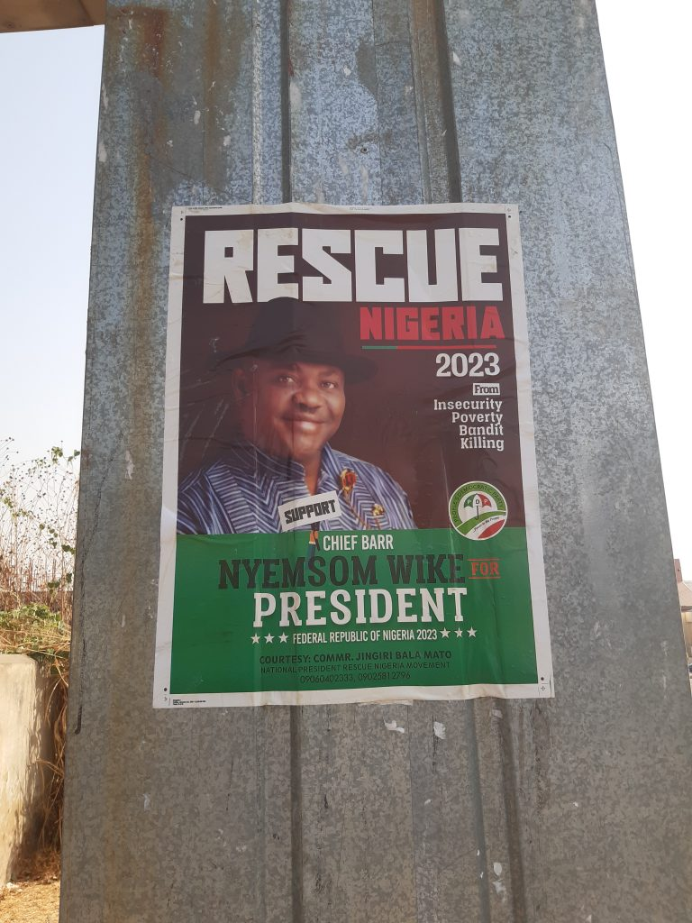 2023 Presidential Campaign Posters Of Nyesom Wike Spotted In Abuja [Photos] 4