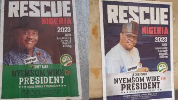2023 Presidential Campaign Posters Of Nyesom Wike Spotted In Abuja [Photos] 10