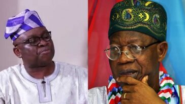 Fayose Says Lai Mohammed Loves To Vomit Evil Through His 'Septic-Tank-Like-Mouth' 8