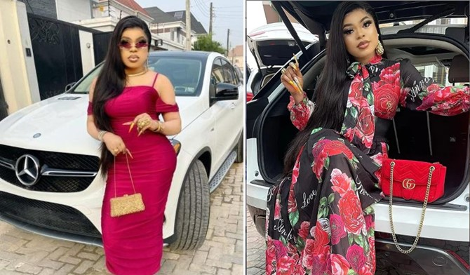 """""""I Am The Richest Ashawo In Nigeria"""" - Bobrisky Says As He Flaunts His N12.4m Jewelry 1"""