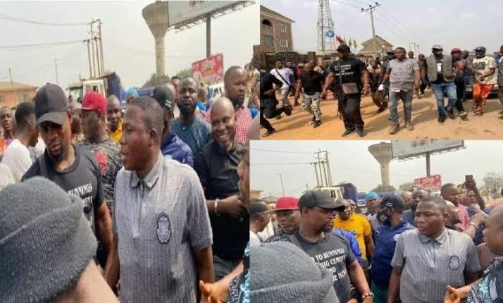Sunday Igboho Storms Ogun, Vows To Flush Out 'Criminal Fulani Herdsmen' 1