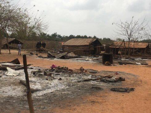 One Dead As Sunday Igboho Allegedly Burns Fulani Settlement In Ogun [Photos] 2