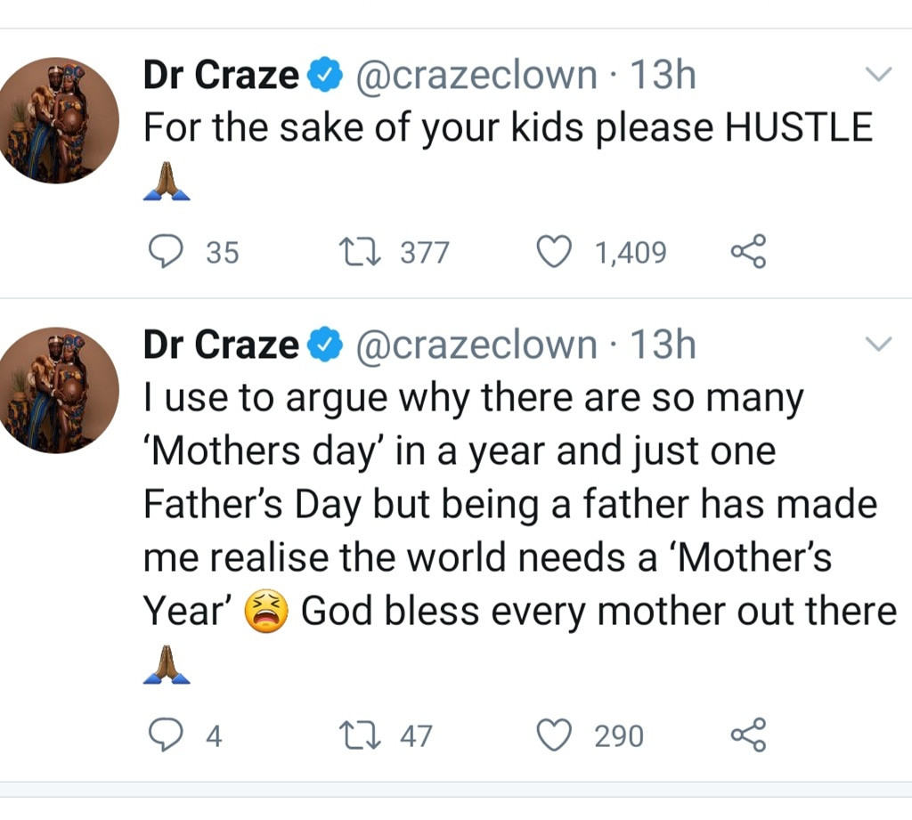 Craze Clown says being a father has helped him understand why there are multiple Mother's Day 2