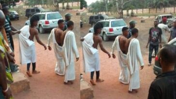 Three Young Men Caught Red Handed Trying To Use A Lady For Money Rituals In Edo 7