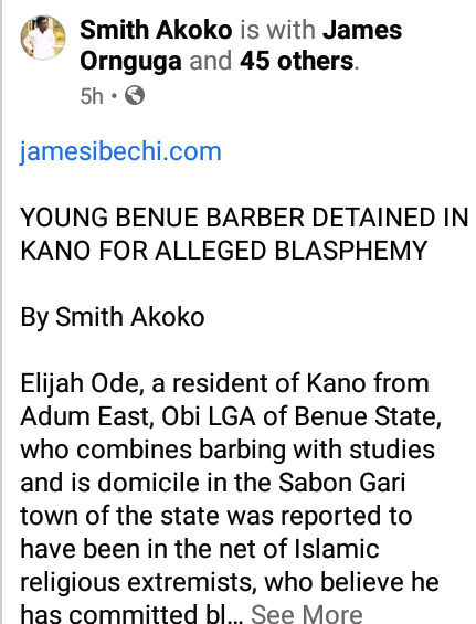 Benue Barber Arrested For Giving Customers Haircuts That Allegedly 'Insults Islam' In Kano 2