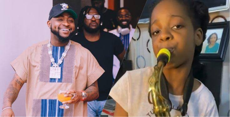 10-Year-Old Saxophonist Receives N500K From Davido For Playing His 'Jowo' Track [Video] 1