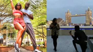 Watch The Moment Nigerian Rapper, Ikechukwu Proposed To His Girlfriend In London [Video] 4