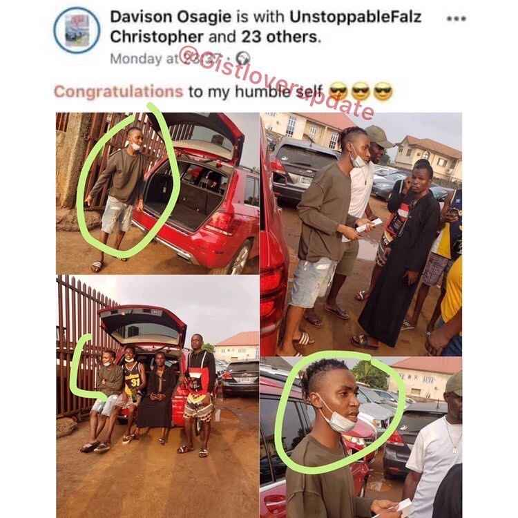 Young Man Arrested After Posing With Car He Bought With Fake Credit Alert In Benin [Photos] 1