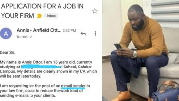 Nigerian Man Employs 13-Year-Old Niece To His Law Firm After She Begged Him For Money 2