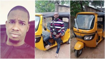 Man Gifts Tricycle To Bike Man Who Gave Him Free Rides For 5 Years Back In University 11