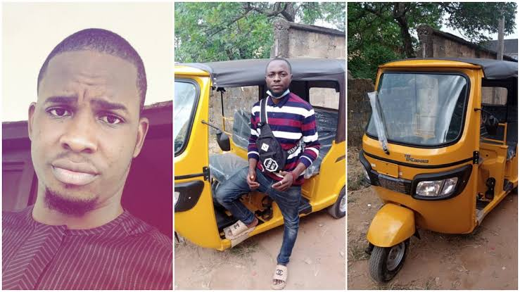 Man Gifts Tricycle To Bike Man Who Gave Him Free Rides For 5 Years Back In University 1