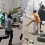 Gunshots Fired As Two NURTW Rival Groups Clashes Violently In Obalende, Lagos [Video] 28
