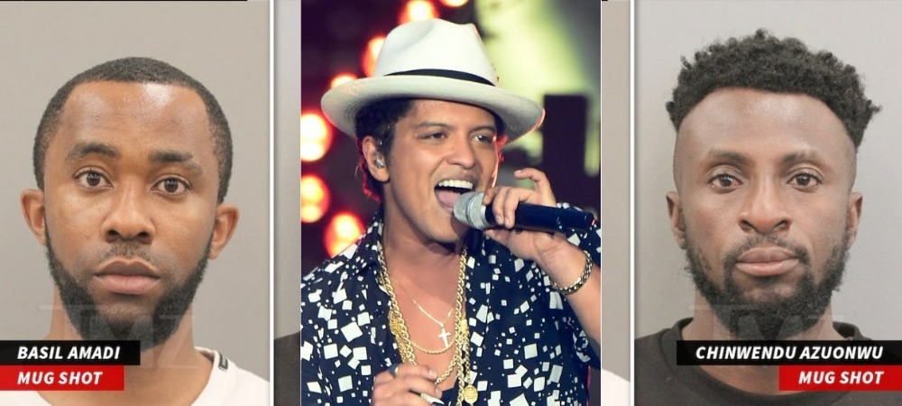 Two Nigerians Arrested For Posing As Bruno Mars To Defraud American Woman Of $100,000 1