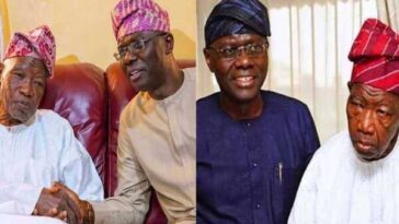 Babajide Sanwo-Olu Mourns As Lagos First Civilian Governor, Lateef Jakande Dies At 91 1