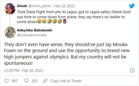 Confusion As Airline Announces There's No Ladder For Passengers To Alight At Lagos Airport 8
