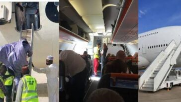 Confusion As Airline Announces There's No Ladder For Passengers To Alight At Lagos Airport 2