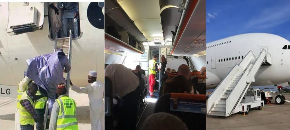 Confusion As Airline Announces There's No Ladder For Passengers To Alight At Lagos Airport 1