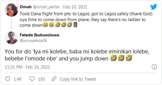Confusion As Airline Announces There's No Ladder For Passengers To Alight At Lagos Airport 7
