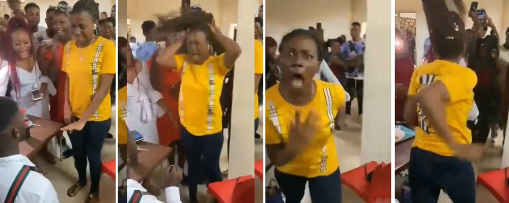 Nigerian Lady Runs Mad While Trying To Accept Proposal Ring From Her Boyfriend [Video] 1