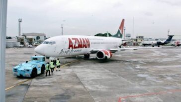 FAAN Shuts Down Lagos Airport After Azman Aircraft Suffered Burst Tyre While Landing 6