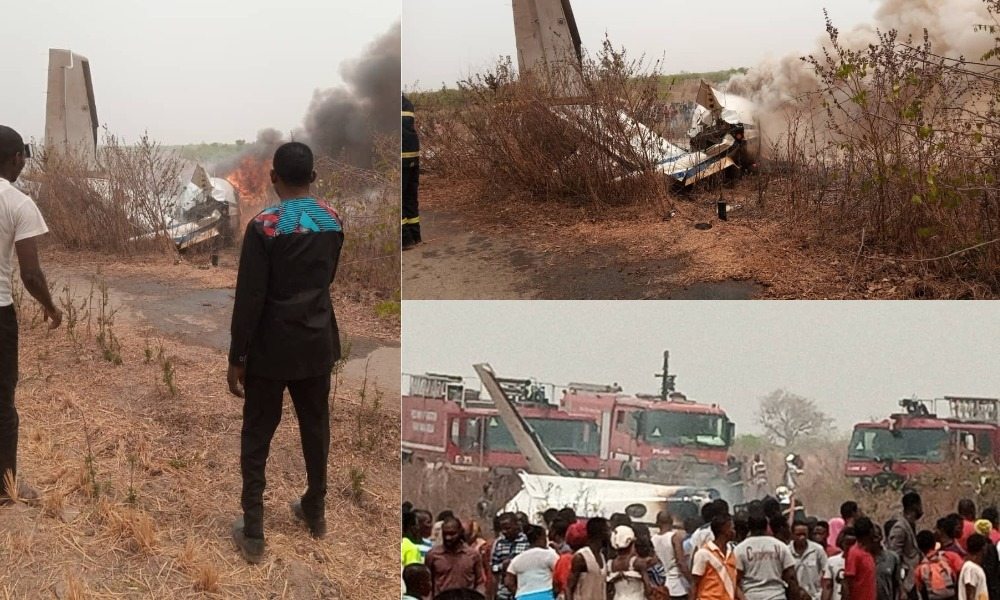 Nigerian Military Aircraft Crashes At Abuja Airport, Kills All Seven Personnel Onboard [Video] 3