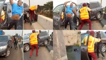 Driver Knocks Policeman Off A Bridge While Trying To Escape LASTMA Officials [Video] 11