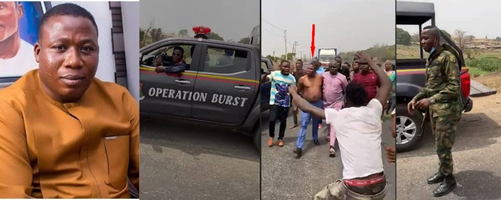 Pandemonium As Security Operatives Attempts To Arrest Sunday Igboho [Video] 1