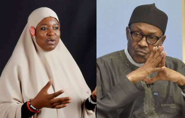 Buhari's Words Are Meaningless, His Body Language Enables Terrorists - Aisha Yesufu 1