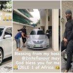 Singer Flavour Gift His Childhood Friend 'Asuwa Dede' A Brand New Car [Photos] 28