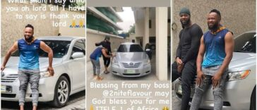 Singer Flavour Gift His Childhood Friend 'Asuwa Dede' A Brand New Car [Photos] 25