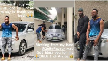 Singer Flavour Gift His Childhood Friend 'Asuwa Dede' A Brand New Car [Photos] 2