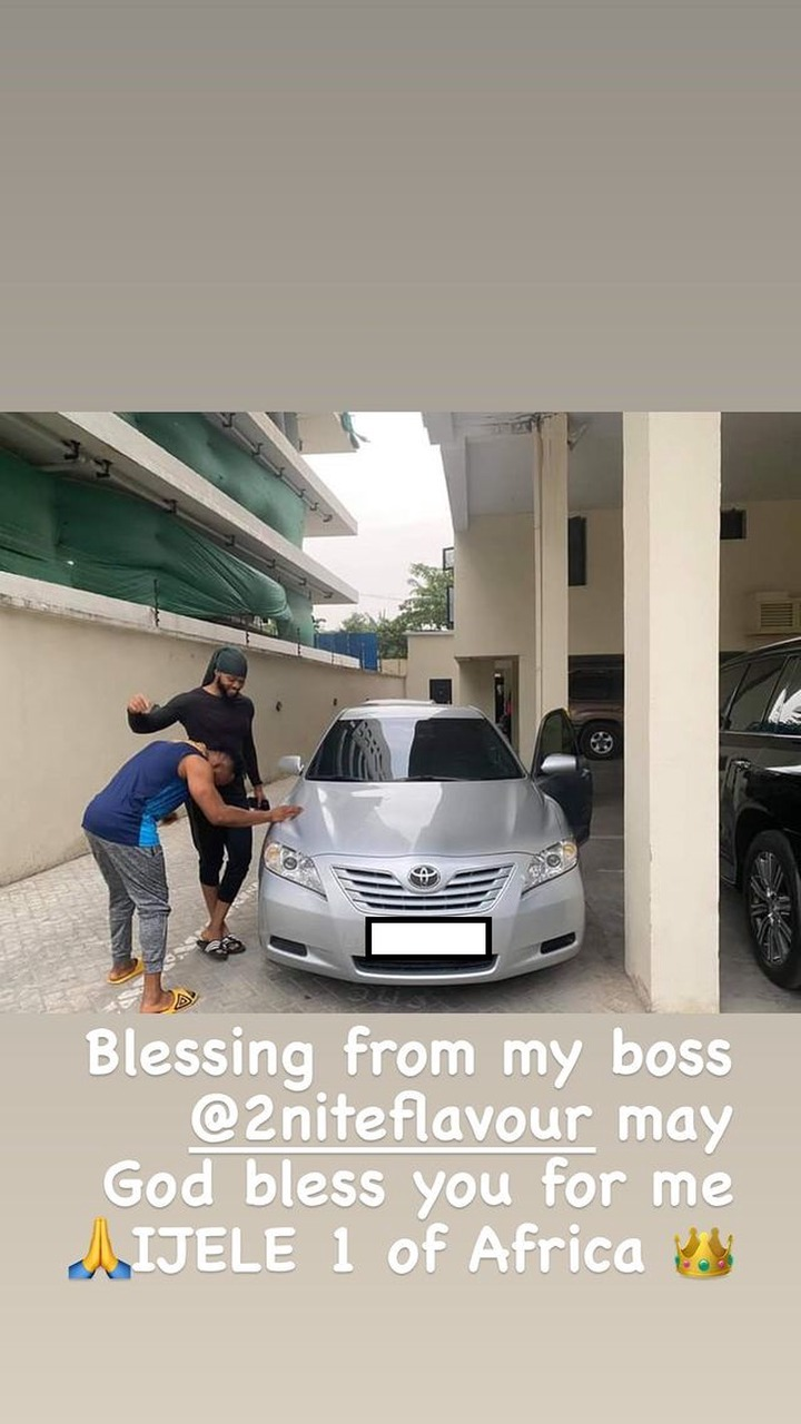 Singer Flavour Gift His Childhood Friend 'Asuwa Dede' A Brand New Car [Photos] 5
