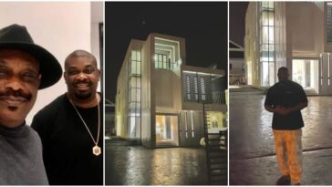 Music Mogul, Don Jazzy Show Off His Newly Acquired Mansion, Dad Celebrates [Photos] 9