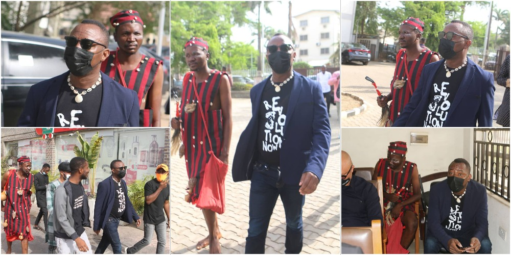 Drama As Omoyele Sowore Storms Abuja Court With A 'Native Doctor' [Photos] 1