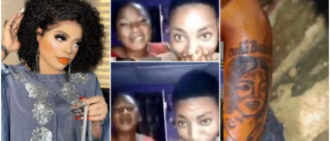 """Please Help My Son Ma"" - Nigerian Mum Begs Bobrisky After Her Son Tattooed His Face [Video] 25"