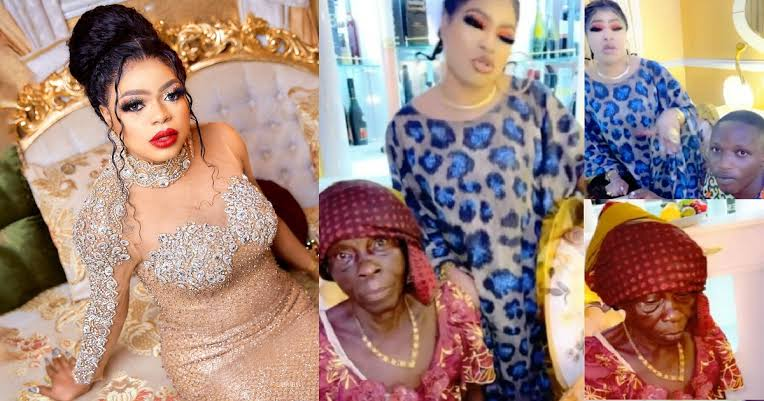 Bobrisky Finally Meets Elderly Fan And Her Grandson, Vows To Lift Them From Poverty [Video] 1