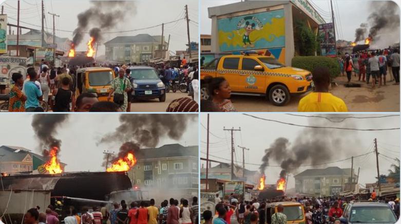Fire Engulfs NNPC Petrol Station In Alagbole Area Of Ogun State [Video] 1