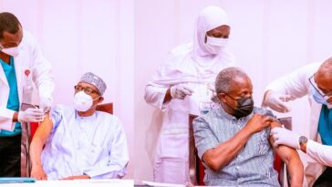 President Buhari And VP Osinbajo Receives AstraZeneca COVID-19 Vaccine Shots [Photos] 9
