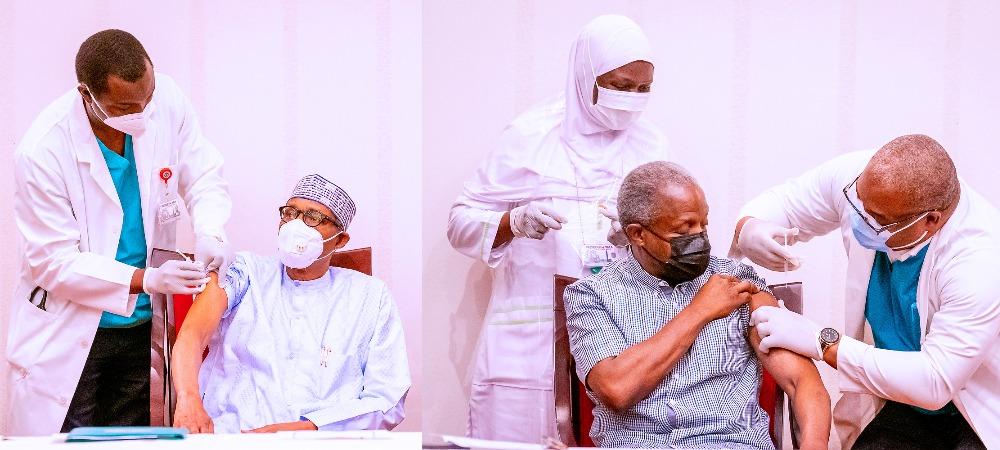 President Buhari And VP Osinbajo Receives AstraZeneca COVID-19 Vaccine Shots [Photos] 1