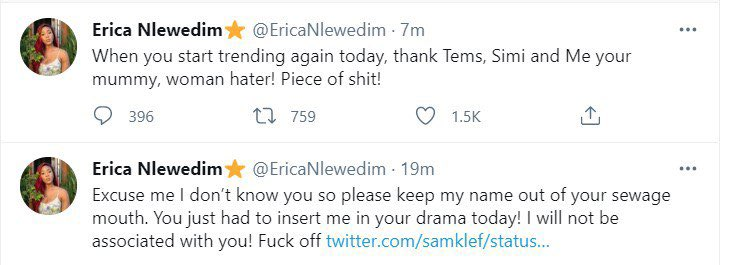 Simi And Erica Clashes With Samklef On Twitter For Sexualising Female Singer, Tems [Video] 7