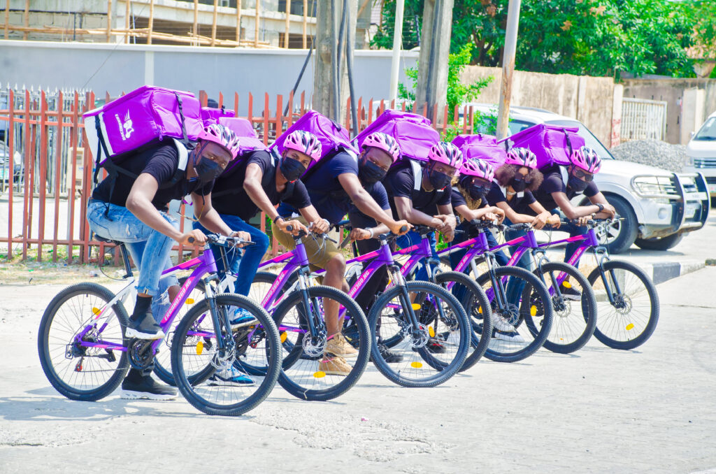 Errand360 bicycles and riders