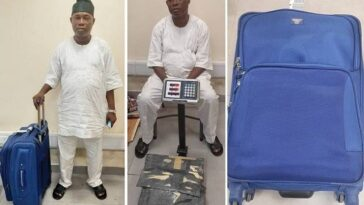 NDLEA Arrests Notorious Drug Trafficker With Three Parcels Of Cocaine At Lagos Airport 4