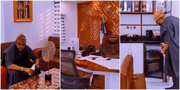 E-Money Goes Spiritual As He Shows Off His Multi-Million Naira Office Interior [Video] 1